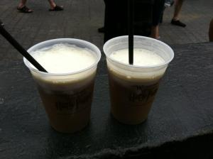 Frozen butterbeer is my favorite treat served at the Universal Orlando resort.