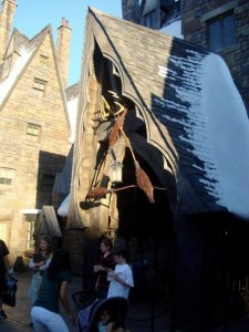 The Three Broomsticks is located at the Wizarding World of Harry Potter (Hogsmeade) in Universal's Islands of Adventure.