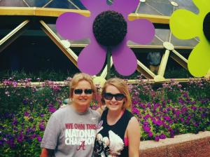My mom and I outside Festival Center in 2013.